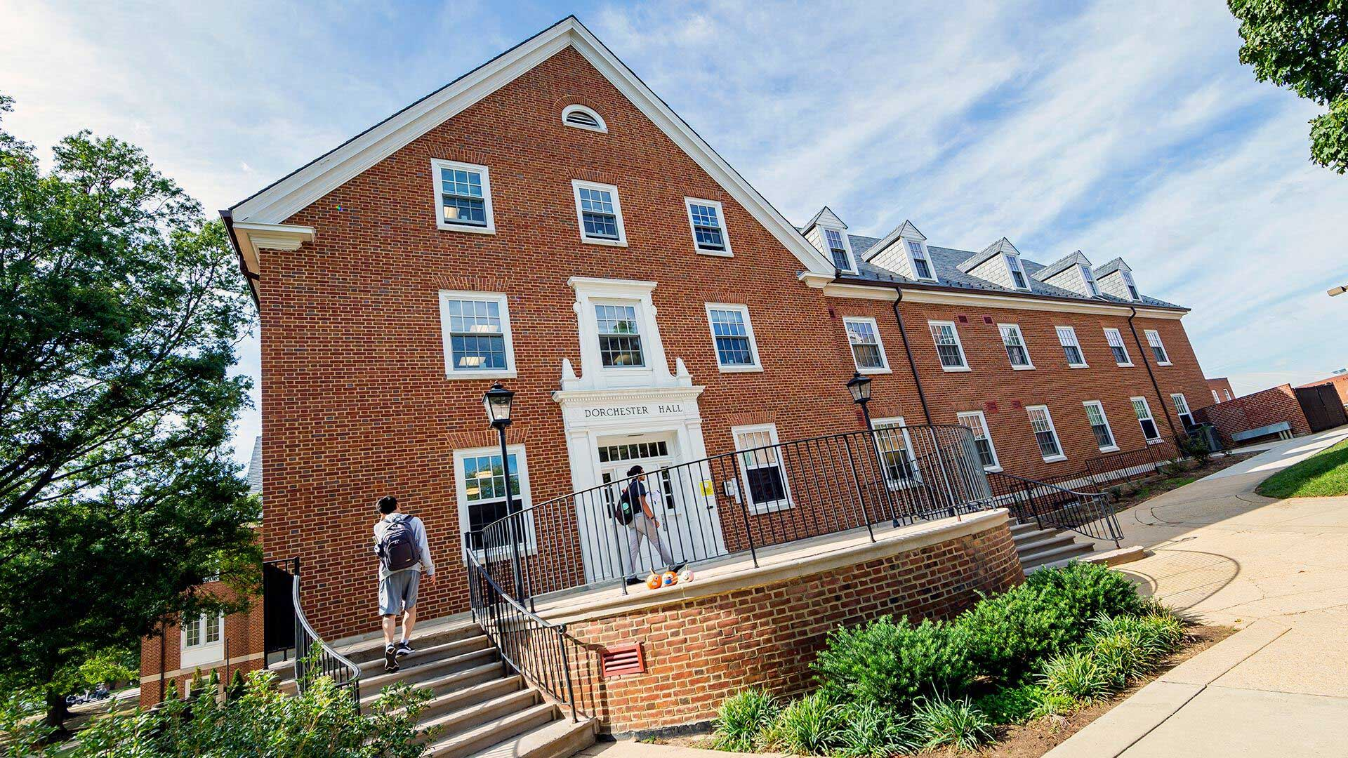 Dorchester Hall will be home to Honors Global Communities, one of two new Honors College living-learning programs launching in Fall 2022; the other is Interdisciplinary Business Honors. Photo by John T. Consoli.