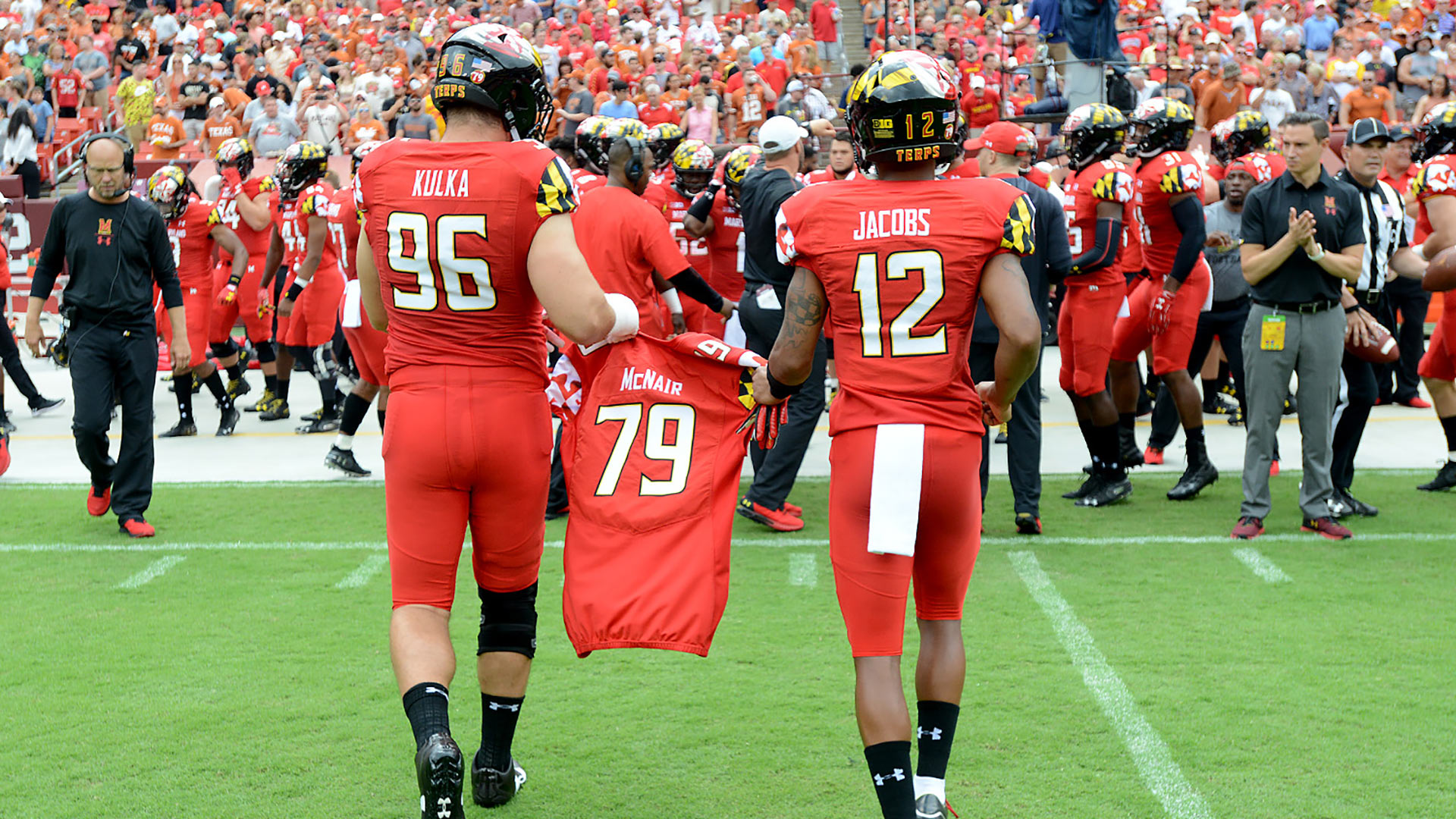 Jordan McNair Jersey carried by Maryland Football Teammates