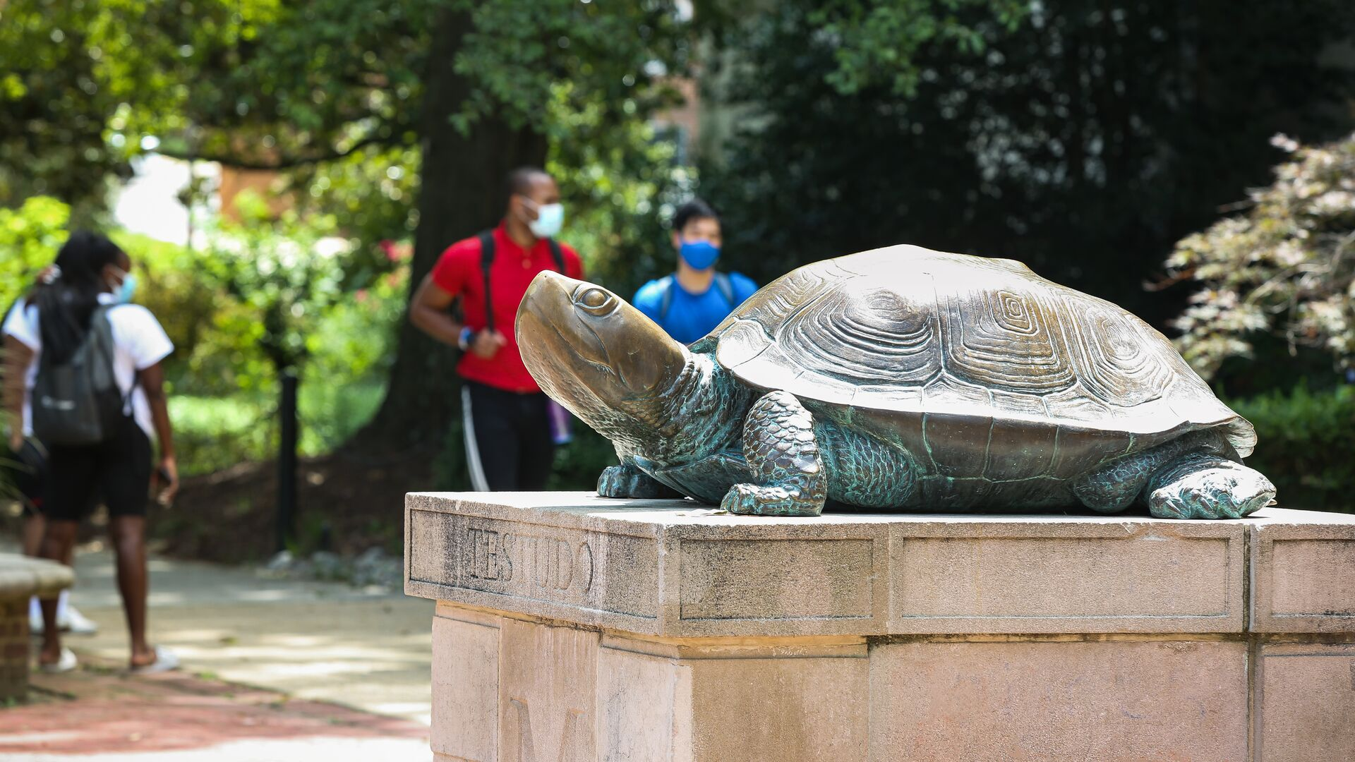 Testudo Statue outside of McKeldin Library