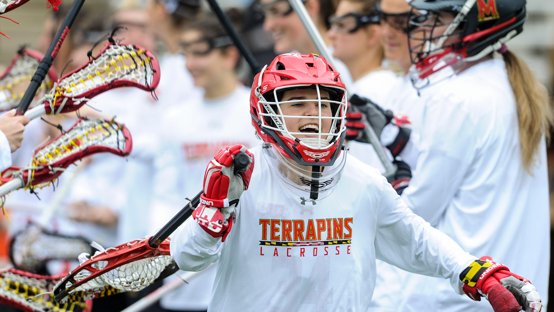 Megan Taylor, the first goalie to ever win the Tewaaraton Award, notched a .551 save percentage this season and helped lead the Terps to a national title. (Photos courtesy of Maryland Athletics)
