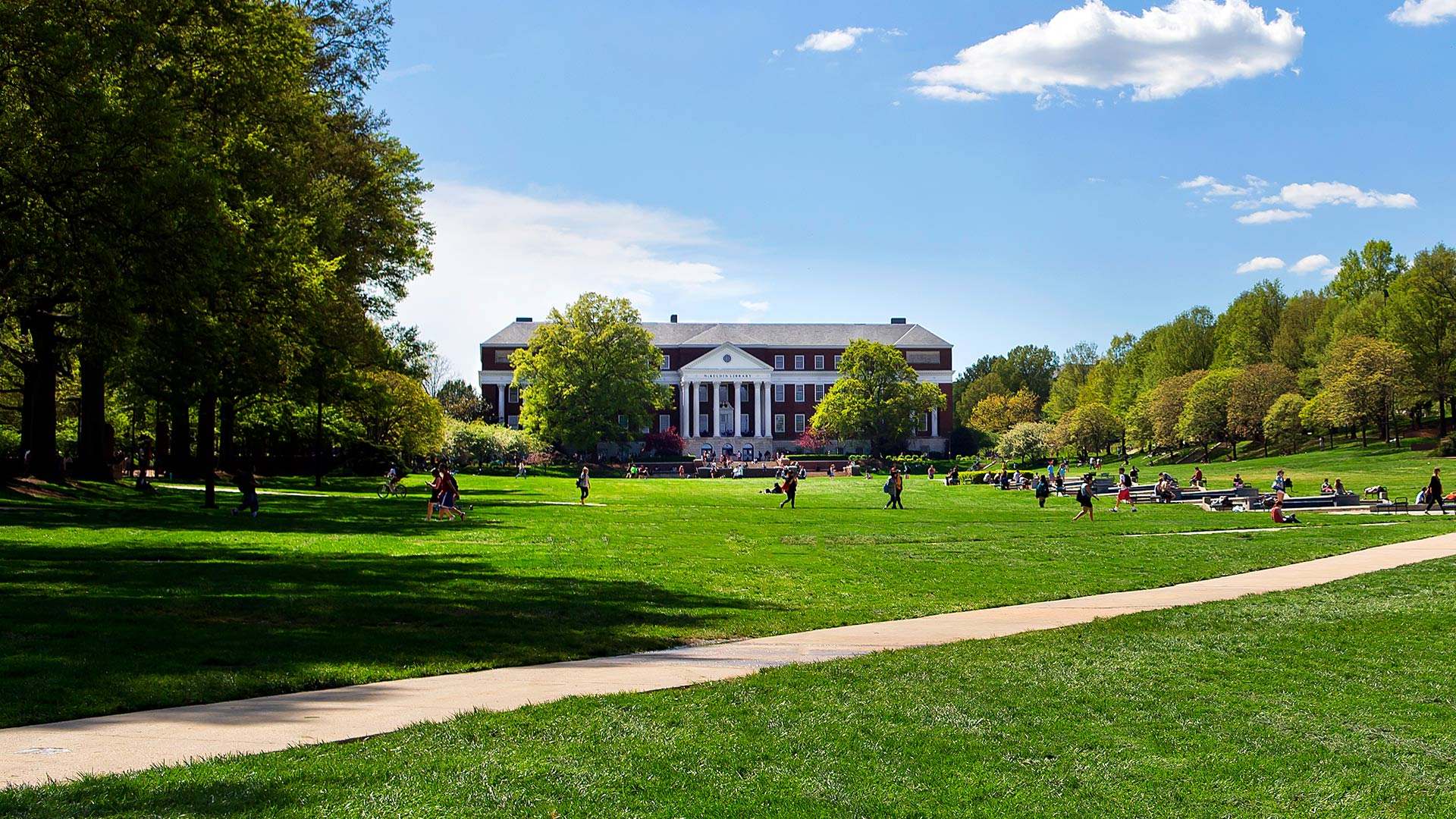 McKeldin Mall in Summer